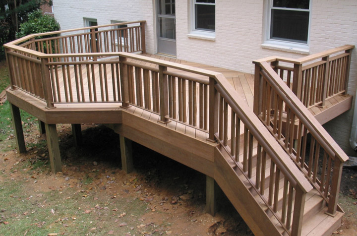 new Ipe deck back porch